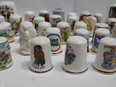Job Lot collection of thimbles - 100+ - mix of designs