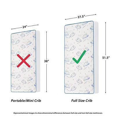 """Dream On Me, 2-in-1 Breathable Two-Sided 3""""Mini/Portable Crib Mattress"""