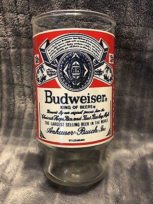 Budweiser Vintage Footed Drinking Glass Used