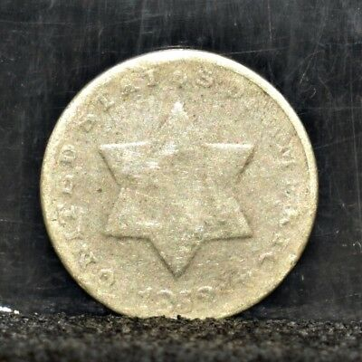 1852 Three Cent Silver - Good Details (#17278)