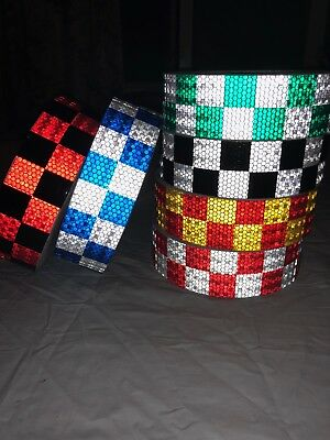 Reflective Tape Self-Adhesive Reflector High Intensity Chequer Chequered Vinyl