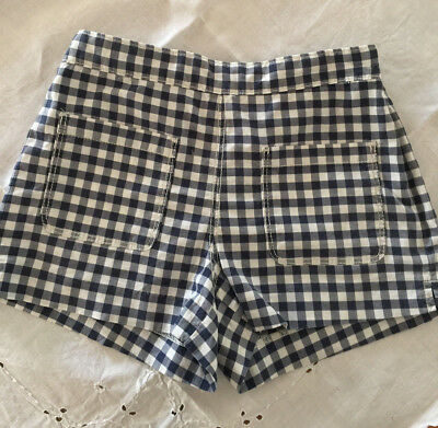 Girls Country Road Blue White gingham Shorts sz 10 pre loved.