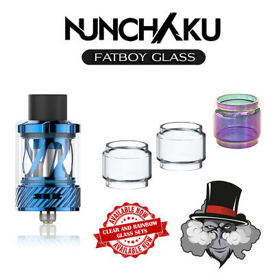 UWELL Nunchaku Compatible PYREX Fatboy Glass | Rainbow & Clear Glass Sets