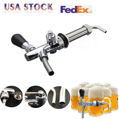 Kegerator Draft Beer Faucet with Flow Controller chrome plating Shank Tap Kit