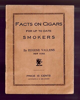Rare 1923  FACTS ON CIGARS FOR UP TO DATE SMOKERS  Vintage Pamphlet Scarce