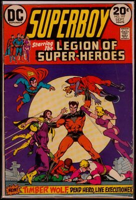 DC Comics SUPERBOY #197 Legion Of Super-Heroes VG/FN 5.0