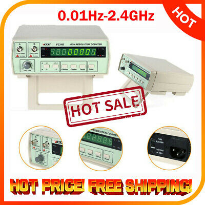 Digital Radio Frequency Counter RF Meter 0.01Hz~2.4GHz Period Victor Tester MG