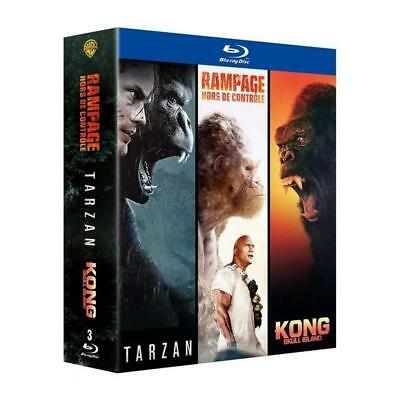Blu-ray Coffret Action Grands singes - Collection de 3 films - Rampage / Tarzan