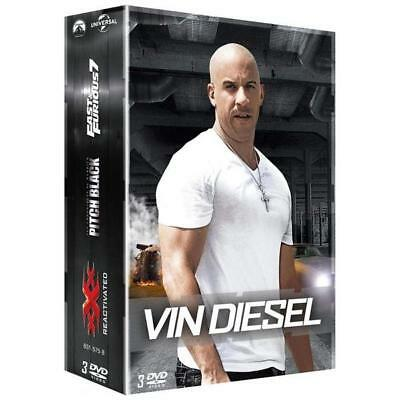 DVD Vin Diesel - Coffret : Fast and Furious 7 + Pitch Black + xXx Reactivated -