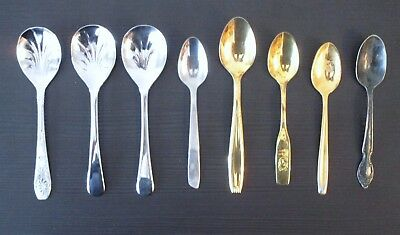 Lot of 8 Collectible Souvenir Spoons Stainless Silver Plated?