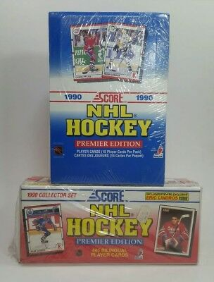 1990-91 Score NHL Hockey Card Lot Factory Sealed Sets Famous Rookies