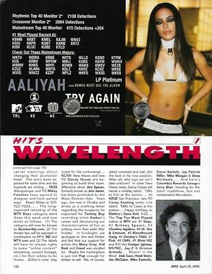 Aaliyah Original Trade Magazine Advertisement Rare! Try Again