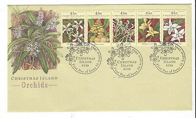 ENVELOPE Australia First Day Cover Christmas Island  Orchids 1994