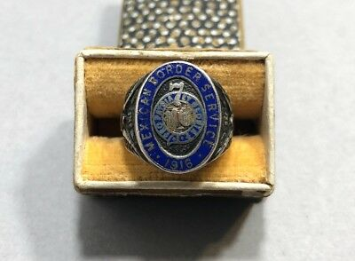 US Mexican Border Service 1916 Antique Sterling Silver Ring