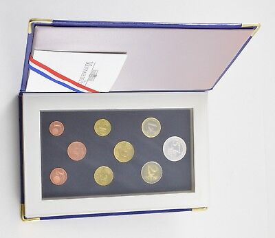 2004 French Euro 9 Piece Proof Set Coin Book - With CoA *6742