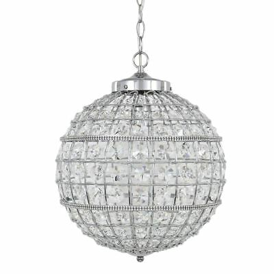 Vienna Small Clear Cut Glass  Ceiling Light