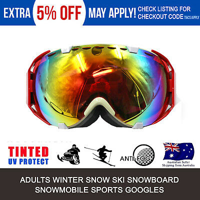 c7281356db5 PRO RED Protective Glasses Eye GOGGLES for Hiking Skiing Skiers Winter  Sports