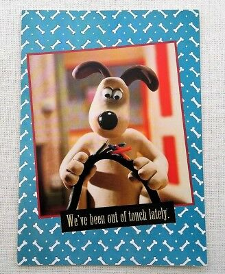Wallace & Gromit Greeting CARD Unused Anthropomorphic Beagle Dog Keep in Touch