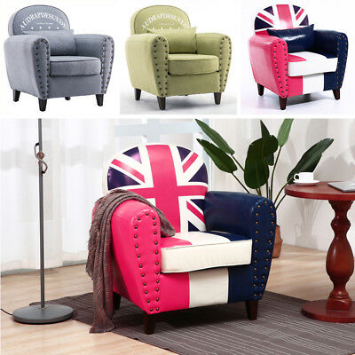 Tall Wing Back Tub Armchair Seat Dining Living Bedroom Bucket Chair Sofa Printed