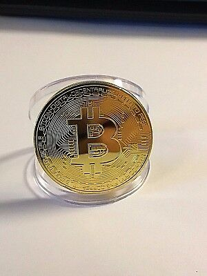 Gold Plated Coin Gold Bitcoin Commemorative Round Collector