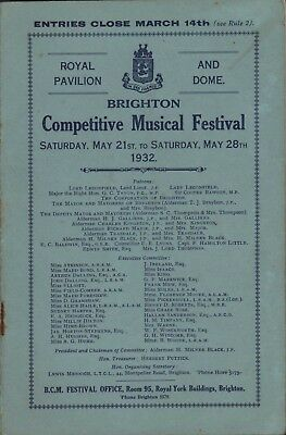 Brighton. 1932. Competitive Music Festival. Royal Pavilion & Dome.  E5.350