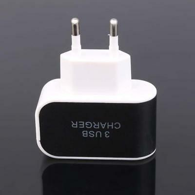 Quick Charge 3.0 3-Port USB 5V 3A Phone Wall Charger Adapter Home Travel EU Plug