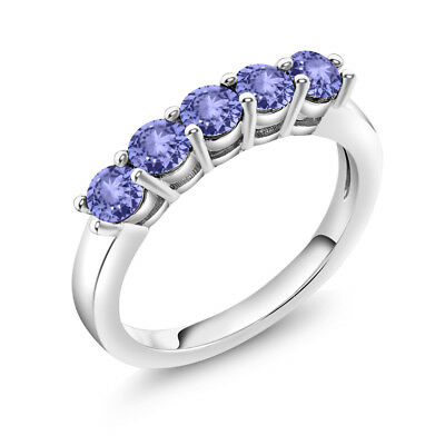 519480ceb96de 2.72 CT ROUND Blue Tanzanite G/H Diamond 925 Sterling Silver ...
