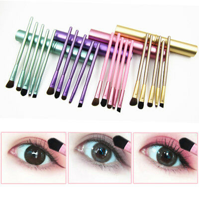 NEW 5pcs Travel Portable Mini Eye Makeup Brushes Set  Eyeshadow Eyeliner
