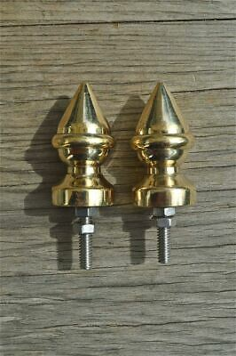 A pair superb quality antique brass furniture clock finial vase shape finial Z5