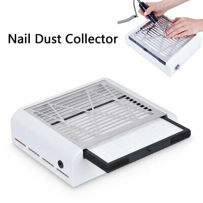 40W Nail Vacuum Cleaner Manicure 2 IN 1 Dust Fans Collector Suction Fingernail