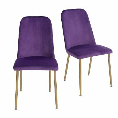 Set of 2 Velvet Living Room Chairs Office Chairs Dining Chairs Kitchen Chairs