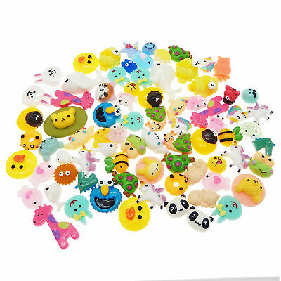 20pcs Cute Animals Resin Flatback Slime Charms for Ornament Scrapbook DIY Crafts