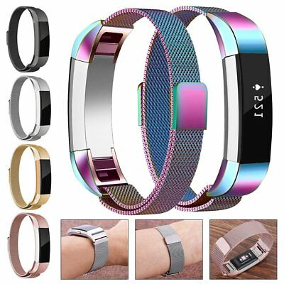 Magnetic Milanese Stainless Steel Watch Wrist Band Strap For Fitbit Alta/Alta HR