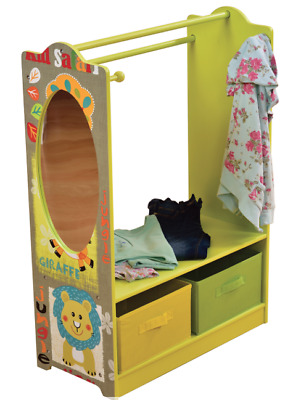 KIDS JUNGLE ANIMAL THEMED BEDROOM FURNITURE Wardrobe Dress Up Clothes Storage
