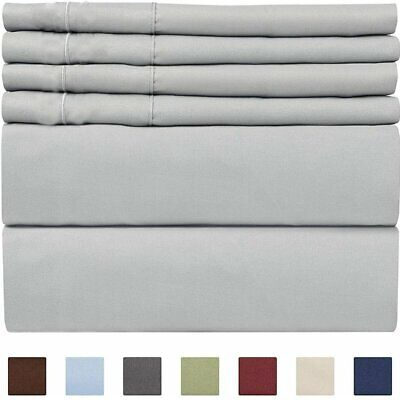 King Size Super Soft Deep Pocket (6) Piece Sheet Set Bed Sheets In Many Colors