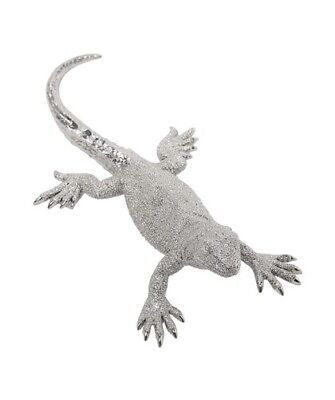 Deko Lizard Medium silber Eidechse Dekoration Figur