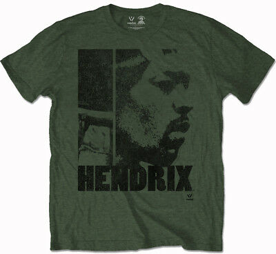 Jimi Hendrix 'Let Me Live' (Khaki) T-Shirt - NEW & OFFICIAL!