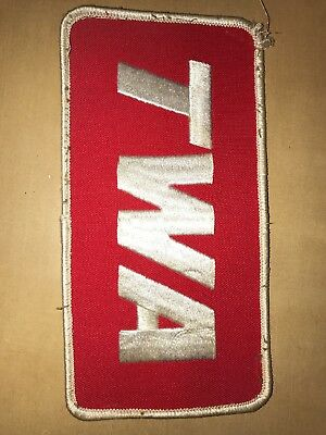 T W A Airline embroidered Patch Large