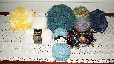 Mixed Lot of Yarns Fancy Yarns ~ Misc Styles & Brands