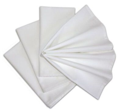 6 NEW Cotton Dinner Napkins WHITE 12 Pack 20 x 20 inch Durable Linen Table