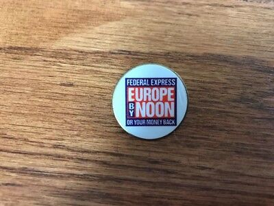FedEx Pin - 1990's Federal Express Europe By Noon
