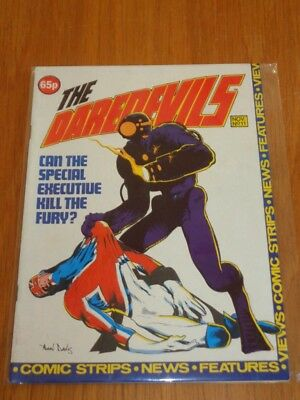 Daredevils #11 Marvel British Monthly November 1983 With Poster Gift (B)^