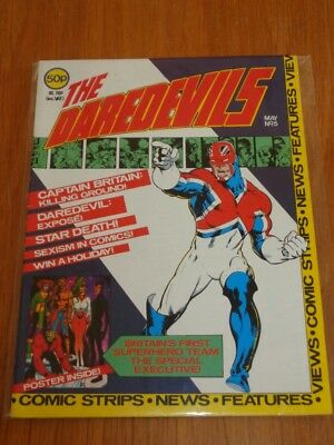 Daredevils #5 British Monthly May 1983 Nice Condition With Poster Gift (C)^