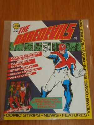 Daredevils #5 Marvel British Monthly May 1983 With Poster Gift (B)^