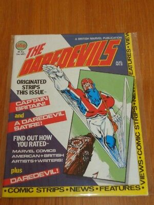 Daredevils #8 Marvel British Monthly August 1983 With Poster Gift (B)^