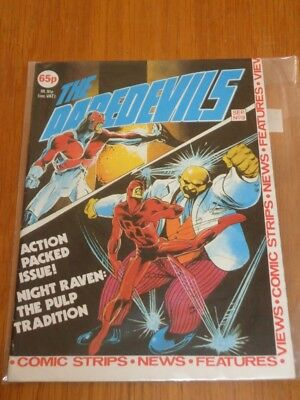 Daredevils #9 Marvel British Monthly September 1983 With Poster Gift (A)^