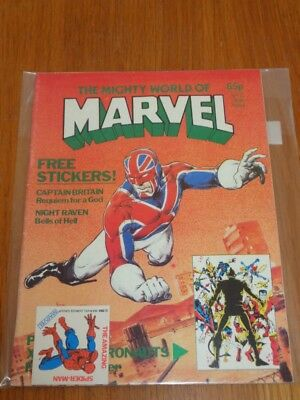 Mighty World Of Marvel Vol 2 #13 British Monthly June 1984 With Free Gift (C)^