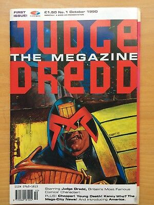 Judge Dredd The Magazine Volume 1 Issue 1 (with fold out cover)