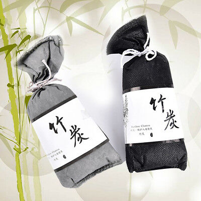 100g Bamboo Charcoal Activated Carbon Air Freshener Car Home Deodorant Bag  trim