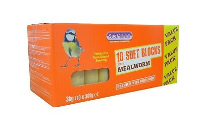 Suet To Go Mealworm & Insect Block Value Pack 10pk Wild Birds Treats Food